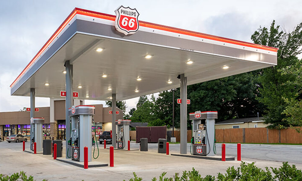 Rivet gas station image by Phillips 66 fuel brand
