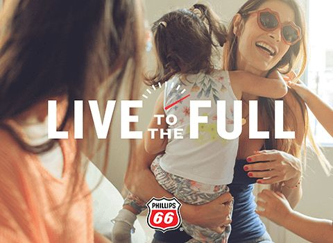 Phillips 66 fuel brand Live to the Full campaign tagline